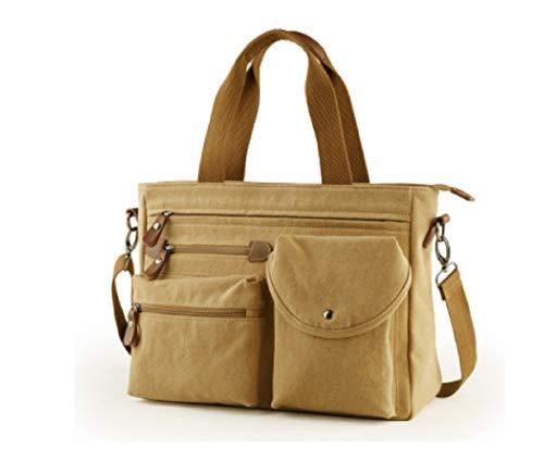 Handbag Pack Bag Fashion theft Zhrui Men's Briefcase Business Travel Hiking Bags Anti Khaki Messenger Laptop Ow4xgq