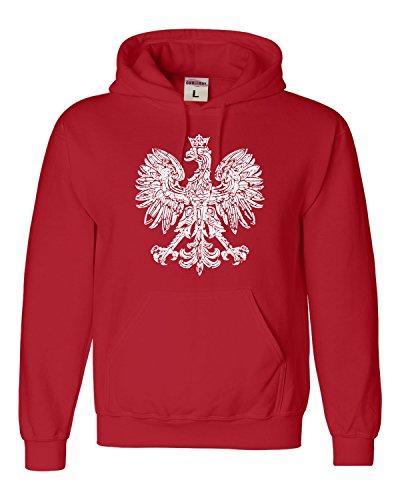 Medium Red Adult Polska Eagle Polish Pride Poland Sweatshirt Hoodie