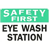 "Safety First Sign - Eye Wash Station - 10"" x 14"" OSHA Safety Sign"