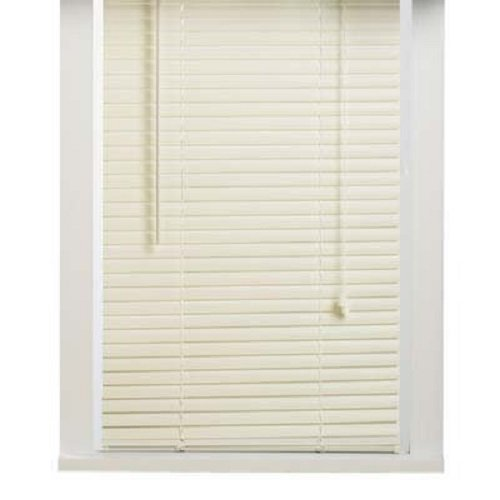 New 5th Ave Collection Alabaster Vinyl 1\ Mini Blinds - 28\ Wide x 72\ Long Naturally Home