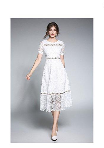 Vestido Blanco Fiesta Mujer JIALELE Encaje Encaje Vestido La De Fiesta Mujer Y dxdqCF