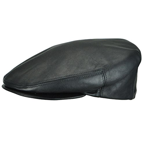 Kangol Men's Heritage Collection Luxurious Italian Leather Cap, Black (Small)