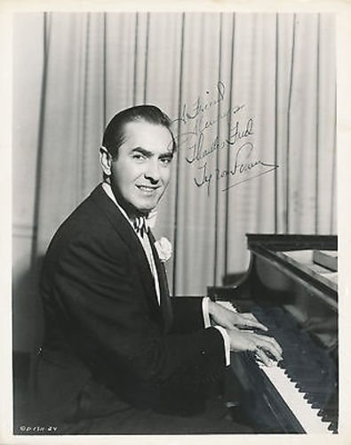 (Tyrone Power-Autographed-Signed-Signature-Vintage 8x10 Photo)