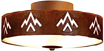 Avalanche Ranch Lighting A47102-02 Ridgewood Close-to-Ceiling Small (Deception Pass), Close To Ceiling Light Fixture, Rust Patina Finish