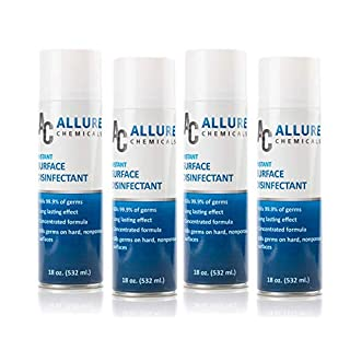 All Purpose Disinfectant Spray - Aerosol Spray - 18 Fl oz - 4 canisters - Multi-Surface Cleaner (4)