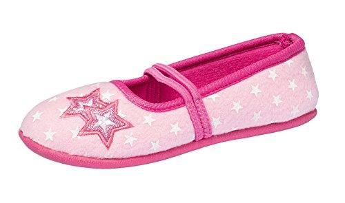 M盲dchen Fleece Hausschuhe rosa pink