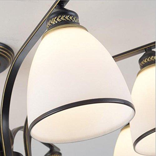 XUEXIN Luxury Contemporary Chandelier, 6-head light European Ceiling Lamp for Bedroom Living Room Restaurant Lighting by XUEXIN (Image #4)
