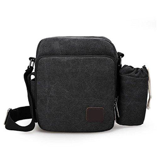 Männer Vintage-Leinwand Messenger Aktentasche Schulter Tote Schulranzen Multifunktional Tasche,C-OneSize