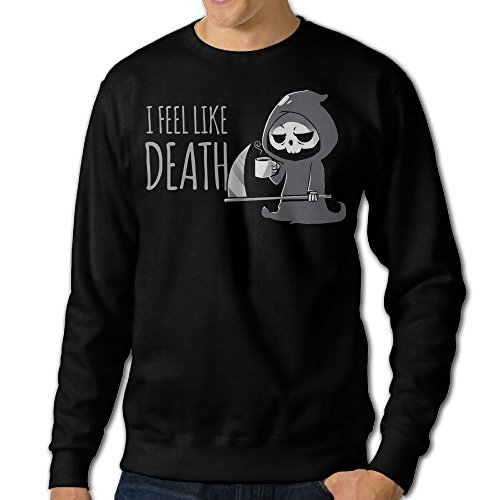 I Feel Like Death.PNGSweatshirt For Menquality Fleeces Fashion Personality Athletic Long-sleeved Hoody