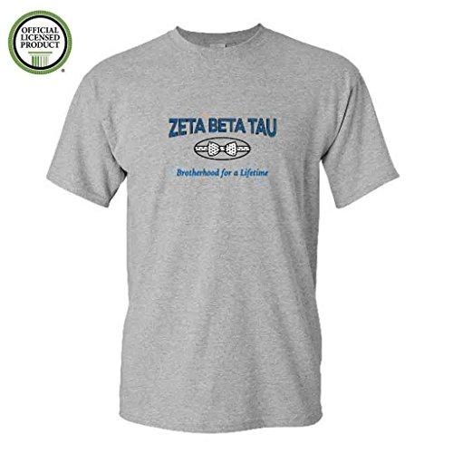 (Zeta Beta Tau Short Sleeve Tshirt- Bowtie #2- Great Shirts For Zeta Beta Tau Rush (Medium, Sports Gray))
