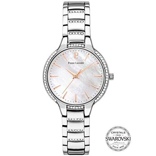 Pierre Lannier Elegance Seduction Swarovski Crystal Silver Ladies Watch