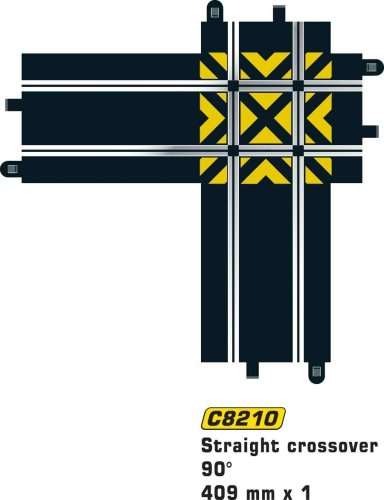 Scalextric C8210 Track Straight Crossover ()
