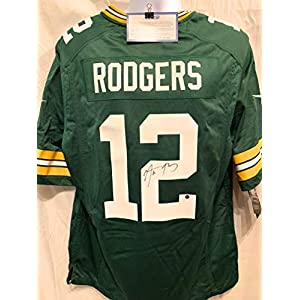 Aaron Rodgers Green Bay Packers Signed Autograph Nike Replica Jersey Steiner Sports Certified