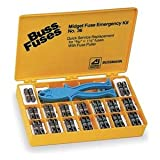 Bussmann NO.36 Midget Fuse Emergency Kit (Nylon Box Contains 36 Fnq-R, Fnq, Ktk-R Fuses And Fp-2 Fuse Puller 500 Or 600V Ul Listed), 1 Pack