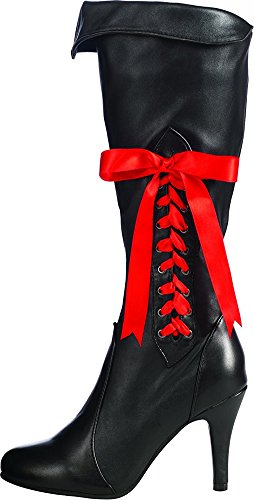 Pirate Lass Adult Costumes (Secret Wishes Pirate Lass Boots, Black, Large)