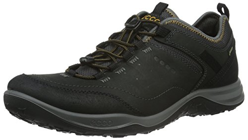 ECCO Men's Esphino GORE-TEX waterproof Hiking shoe, Black, 45 EU/11-11.5 M - Oiled Nubuck Tie