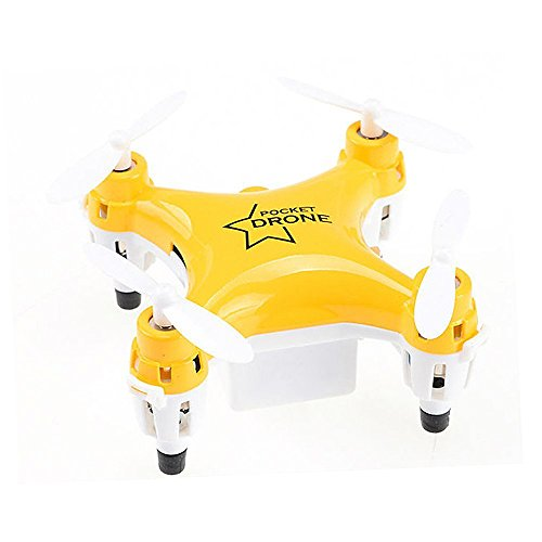 ECLEAR Mini Foldable RC Quadcopter Drone 2.4G 4CH 6 Axis Gyro 3D Roll Remote Control One-key Return RTF Toys with LED Lights For Adult Kids - Yellow