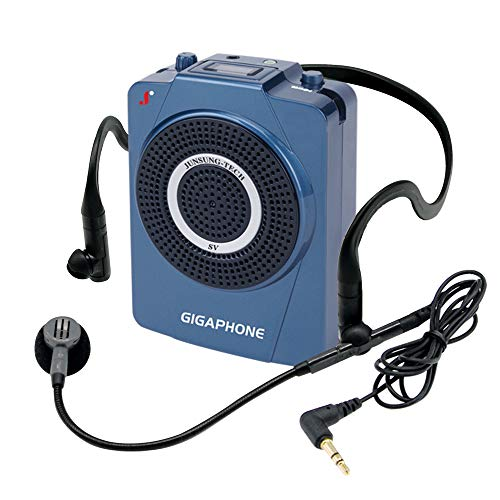GIGAPHONE Outdoor SV Voice Amplifier [40W] Portable Waterproof Compact [3.50 x 4.52 x 1.69 inches/0.65 lb] PA System with Wired Microphone, Waistband, 1900mAh Rechargeable Battery and Shoulder - 65 Guitar Amps