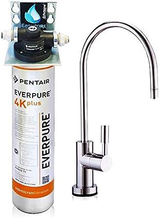 Purificador agua Micro filtración Kit Everpure no UV con filtro 4 ...