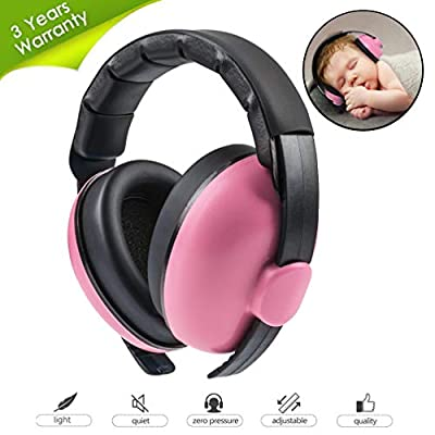 Beautyu Baby Ear Protection Noise Cancelling Headphones for Babies,Baby Headphones Baby Earmuffs,Hearing Protection Headphones–Ages 0-2 Years
