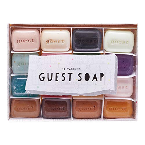 Guest Soap Gift Set [14.08Oz 400G]  25G X 16 Fun Airbnb Hotel Amenities Toiletries Individually Wrapped