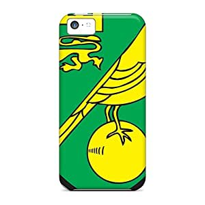 Tough Iphone IzruGMg7908EvNBp Case Cover/ Case For Iphone 5c(best Football Club Norwich)