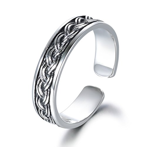 LYTOPTOP 925 Sterling Silver Thumb Ring Celtic Knot Adjustable Ring...
