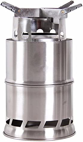 Wealers New Stainless Steelt Wood Stove or Solidified Alcohol Stove, Foldable Lightweigh, Great for Outdoor Cooking Picnic Barbecue Camping and Survival,