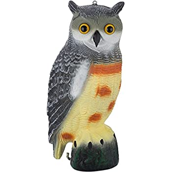Scarecrow Fake Owl Decoy   Pest Repellent Garden Protector   (Large)  (Spotted)