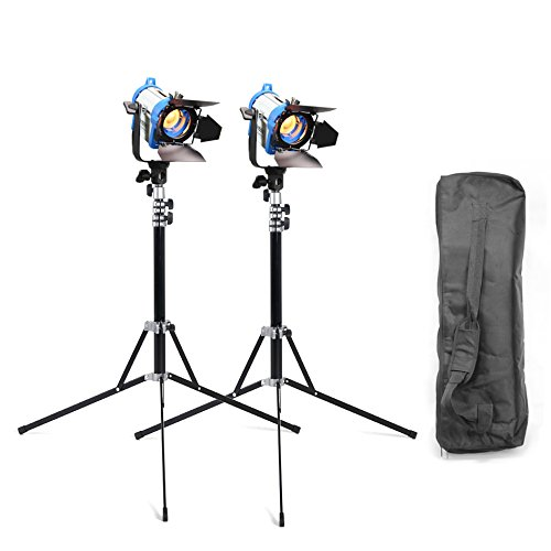 Alumotech As Arri Fresnel Tungsten Spot Lighting 150WX2+StandX2+Bag For Studio Photography by ALUMOTECH