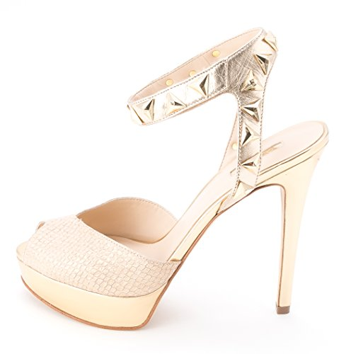 Guess - Sandalias de vestir para mujer Natural Multi Leather