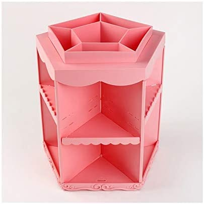 Hlake 化粧品収納ボックス大容量デスクトップ仕上げラックデスクトップドレッシングテーブル口紅仕上げボックス360度回転