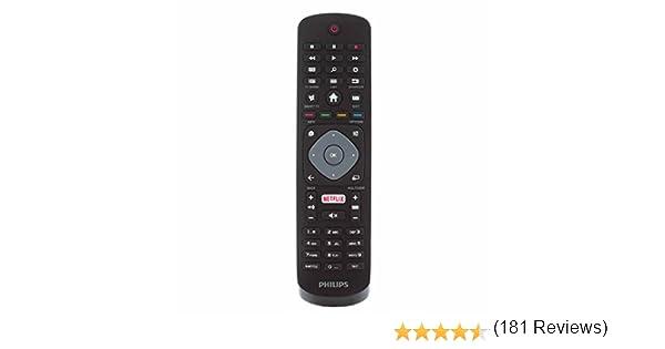 Philips 996596003606 Control Remoto Genuino para 32PFS5362 49PUS610112 65PUS6262 LCD LED 3D HD TV Inteligente con botón de Netflix: Amazon.es: Electrónica