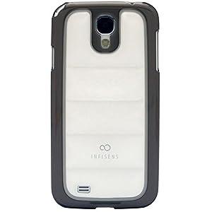 S4 Case, Samsung Galaxy S4 Aqua Soft Bubble Jelly Smartphone Carrying Case, Clear E300, E330 Mobile Cover With Anti-Shock, Including Protective Screen (White + Black Bumper)