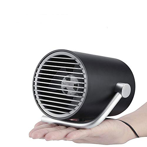 AUGIENB Small Personal Desk USB Fan Portable Mini Table Fan with Twin Turbo Blades Whisper Quiet Cyclone Air Technology For Home Office Outdoor Travel ()