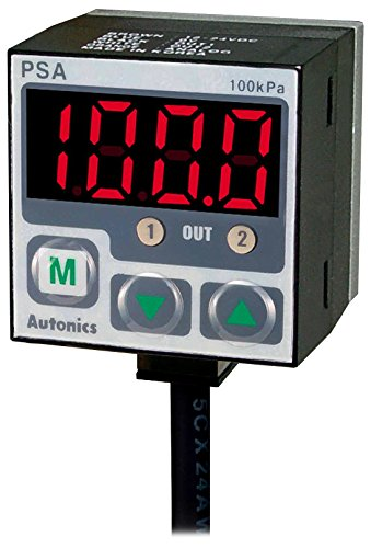 (AUTONICS PSA-V01-NPT1/8 Sensor, Pressure, Negative Pressure, 3 1/2 Digit LED, 0 to -101.3 kPa, 2 NPN/1-5 VDC Out, Port NPT 1/8, 12-24)
