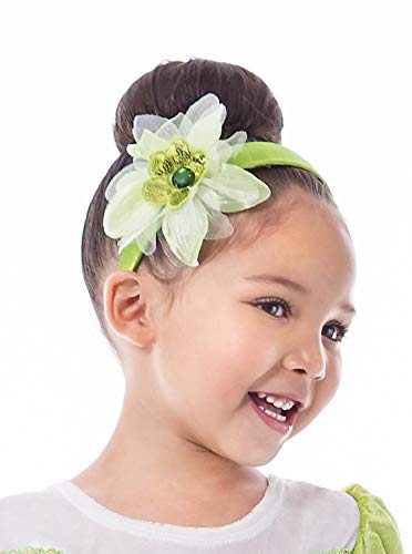 Little Adventures Lily Pad Princess Headband & White Glove Set for Girls - One-Size (3+ Yrs)