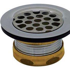 Brass Tray Plug - Dearborn Brass 774A Tray Plug Sink Basket Strainer Brass Body w/Rubber Stopper for 2-1/2