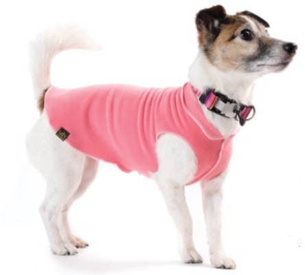 gold Paw Stretch Fleece Dog Coat Coral Size 14