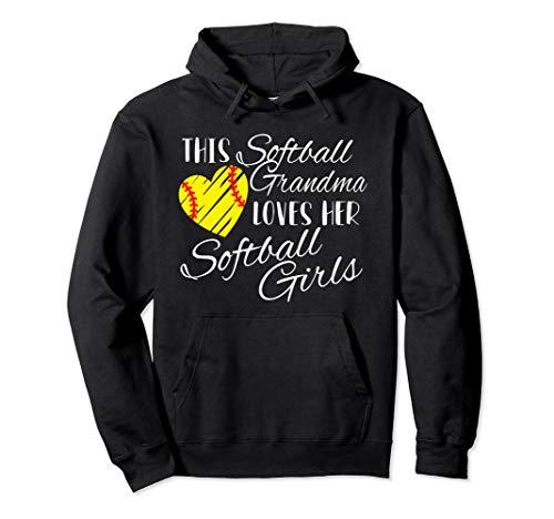Softball Grandma Loves Her Softball Girls Pullover - Sweatshirt Girl Grandmas