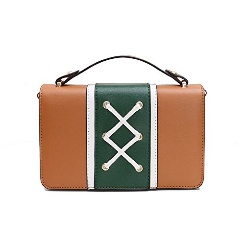 JPFCAK Señora Mini Cadena De Bolsa Salvaje Cordón Bolsa De Hombro Bolso Simple Messenger Bag C