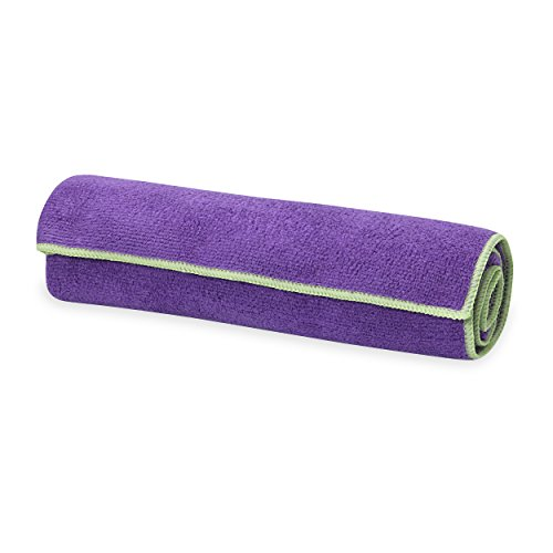 Gaiam Yoga Mat Towel Microfiber Yoga Mat and Hand Sized Towels for All Types of Yoga, Pilates and Floor Exercises - Great for Hot Yoga (68\