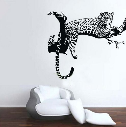 Animal Wild Zoo Leopards, Cheetahs, Tail Wall Decal Sticker Living Room Stickers