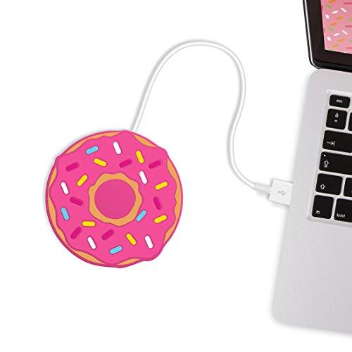 머스타드 USB 컵 머그컵 따뜻한 코스터 - 갓 구운 도너츠 (M11011B)/Mustard USB Cup Mug Warmer Coaster- Donut Freshly Baked (M11011B)