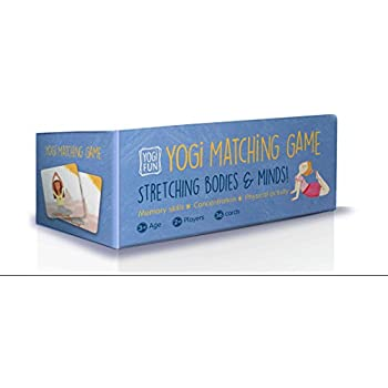 YOGi FUN Matching / Memory Yoga Game for Kids (Girls and Boys) with 36 Cards (18 Pairs)
