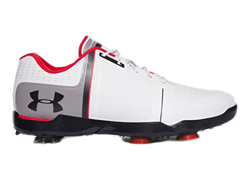 Under Armour New Jordan Spieth One Junior White/Red/Black Golf Shoes Kids Size 7 (Best Golf Shoes For Beginners)