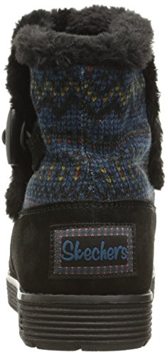 Skechers Womens Adorbs-sweater Garniture Botte De Neige, Noir, 7 M Us