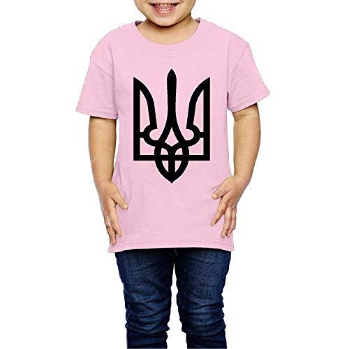 XYMYFC-E Ukraine Tryzub Proud Ukrainian 2-6 Years Old Child Short-Sleeved Tee Shirt