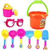 9 pcs/set Beach Sand Play Toys Set Excavating Tools Bucket Sand Wheel Play Bath Toys For Children Learning Study Toys