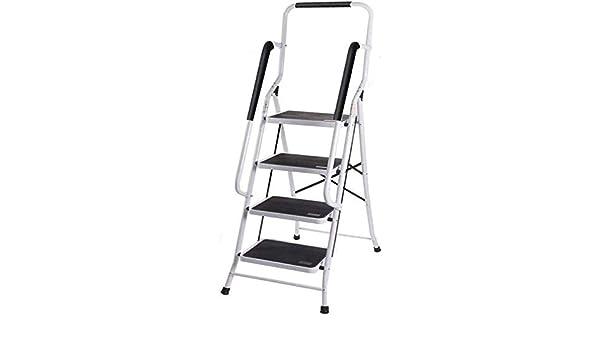 TD Escalera Plegable 4 Escalera Plegable De Acero, Escalera Plegable Portátil For Trabajo Pesado Antiderrapantes con Pasamanos De Seguridad Escalera (Color : Telescopic Ladder(3.2m)): Amazon.es: Hogar